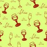 Het naadloze patroon van de wijn stock fotografie