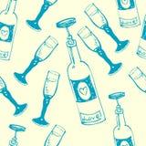 Het naadloze patroon van de wijn stock afbeelding