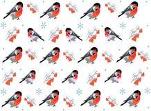 Het naadloze patroon van de winter. Royalty-vrije Stock Fotografie
