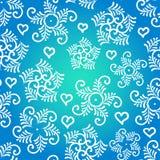 Het naadloze patroon van de winter met sneeuwvlokken Stock Fotografie