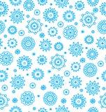 Het naadloze patroon van de winter met sneeuwvlokken royalty-vrije illustratie