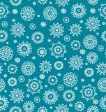Het naadloze patroon van de winter met sneeuwvlokken stock illustratie