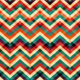 Het naadloze patroon van de zigzag met grungeeffect Royalty-vrije Stock Fotografie