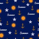 Het naadloze patroon van de zomer Stock Foto