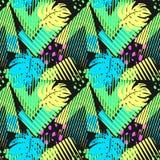 Het naadloze patroon van de zomer tropische bladeren Stock Foto's