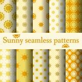 Het naadloze patroon van de zon Stock Afbeeldingen