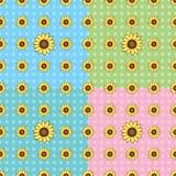 Het naadloze patroon van de Zonnebloem Stock Foto