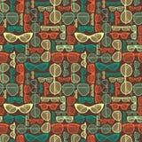 Het naadloze patroon van de Zonnebril Royalty-vrije Stock Afbeelding