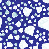Het naadloze patroon van diamanten Stock Foto's