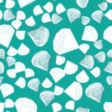 Het naadloze patroon van diamanten Stock Afbeelding