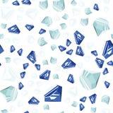 Het naadloze patroon van diamanten Royalty-vrije Stock Afbeeldingen