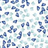 Het naadloze patroon van diamanten Royalty-vrije Stock Fotografie
