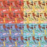 Het naadloze Patroon van Dieren Stock Foto's