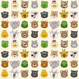 Het Naadloze Patroon van dieren Stock Afbeeldingen