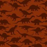 Het naadloze patroon van dinosaurussen Stock Foto