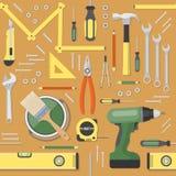 Het naadloze patroon van DIY royalty-vrije illustratie
