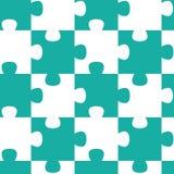 Het naadloze patroon van figuurzaagstukken Stock Foto's