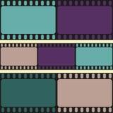 Het naadloze patroon van filmstroken, retro achtergrond, vector Stock Foto