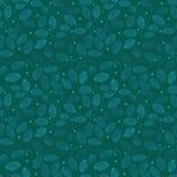 Het naadloze patroon van het gebladerte Teal Watercolor Stock Foto's