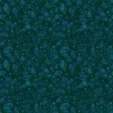 Het naadloze patroon van het gebladerte Teal Watercolor stock illustratie