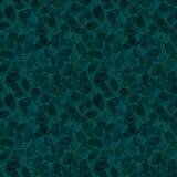 Het naadloze patroon van het gebladerte Teal Watercolor royalty-vrije illustratie
