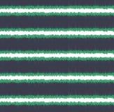 Het naadloze patroon van gekrabbel horizontale strepen Stock Foto