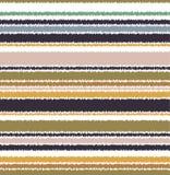 Het naadloze patroon van gekrabbel horizontale strepen Royalty-vrije Stock Afbeelding