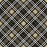 Het naadloze patroon van het geruite Schotse wollen stof De vector van de plaidtextuur EPS10 royalty-vrije illustratie