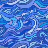 Het naadloze patroon van golven Stock Foto's