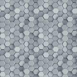 Het naadloze patroon van grijze concrete 3D zeshoeken geeft terug stock illustratie