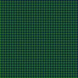 Het Naadloze Patroon van groene en Marinehoundstooth vector illustratie