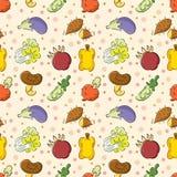 Het naadloze patroon van Groenten Stock Afbeelding