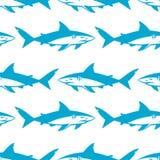 Het naadloze patroon van haaiensilhouetten Royalty-vrije Stock Fotografie