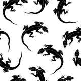 Het naadloze patroon van hagedissen stock illustratie