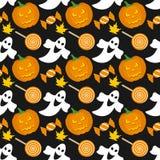 Het Naadloze Patroon van Halloween [1] Royalty-vrije Stock Afbeeldingen