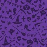 Het naadloze patroon van Halloween stock illustratie