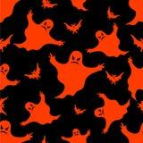 Het naadloze patroon van Halloween. Royalty-vrije Stock Foto's