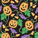 Het naadloze Patroon van Halloween Royalty-vrije Stock Afbeeldingen