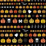 Het naadloze patroon van Halloween Royalty-vrije Stock Afbeelding