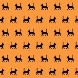 Het naadloze patroon van Halloween Stock Afbeeldingen