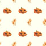 Het naadloze patroon van Halloween Royalty-vrije Stock Foto