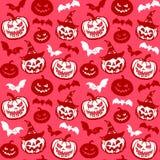 Het naadloze patroon van Halloween Stock Foto