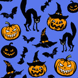 Het naadloze patroon van Halloween Stock Foto's