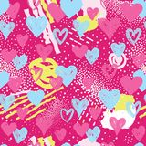 Het naadloze patroon van het hart De achtergrond van de vakantie het decor van de valentijnskaartdag royalty-vrije illustratie