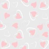 Het naadloze patroon van harten Royalty-vrije Stock Afbeelding