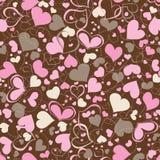 Het naadloze patroon van harten Stock Foto's
