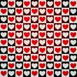 Het naadloze patroon van harten Stock Afbeeldingen