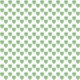 Het naadloze patroon van harten Stock Afbeelding
