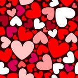 Het naadloze patroon van harten