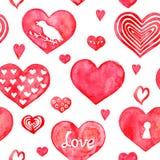 Het naadloze patroon van harten Royalty-vrije Stock Afbeeldingen